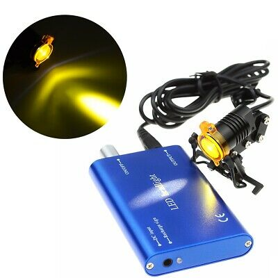 Dental Medical 3W LED Headlight Lamp with Filter Metal Clip Type Blue UK Stock