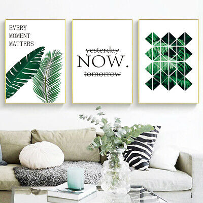 Nordic Posters Wall Decor Tropical Plants Painting Prints Photo Canvas Wall Art