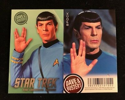 Dave and Busters Star Trek Coin Pusher TOS Series Spock Card