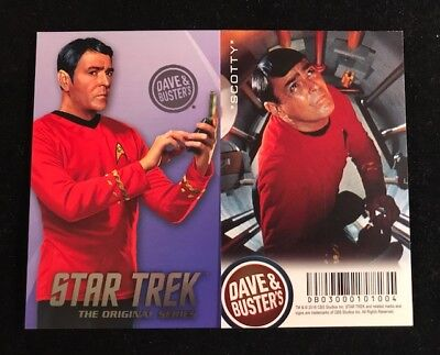 Dave and Busters Star Trek Coin Pusher TOS Series Scotty Card