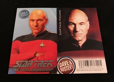 Dave and Busters Star Trek Coin Pusher TNG Series Captain Picard Card