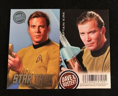 Dave and Busters Star Trek Coin Pusher TOS Series Captain Kirk Card