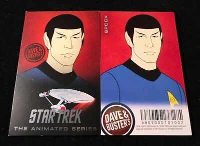 Dave and Busters Star Trek Coin Pusher TAS Series Spock Card