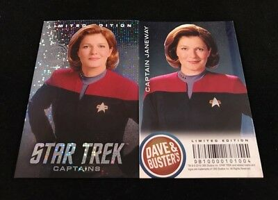 Dave and Busters Star Trek Coin Pusher Captains Series Cpt Janeway LE Foil Card