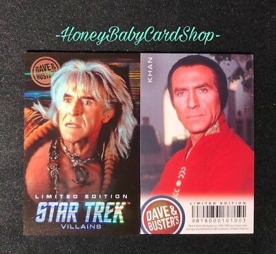 Dave and Busters Star Trek Coin Pusher Villains Series Khan LE Foil Card