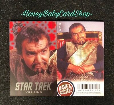 Dave and Busters Star Trek Coin Pusher Villains Series Kor Card