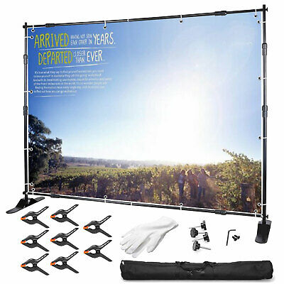 10FT Adjustable Photography Background Banner Support Stand Backdrop System Kit