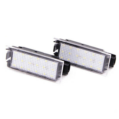2x Universal LED License Plate Tag Lights Lamps for Renault Truck SUV Trailer