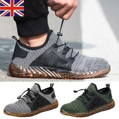 Men Safety Lightweight Work Shoes Steel Toe Boots Indestructible Mesh Sneakers