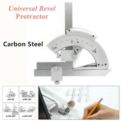 Universal Bevel Protractor Machinist Angle Measurement Tool 0-320° Accuracy 0.02