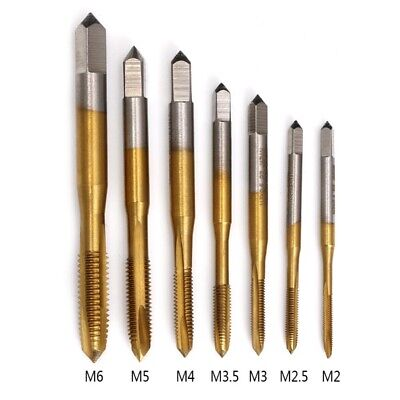 M2/M2.5/M3/M3.5/M4/M5/M6 Metric HSS Straight Thread Flute Screw Tap Plug Tap