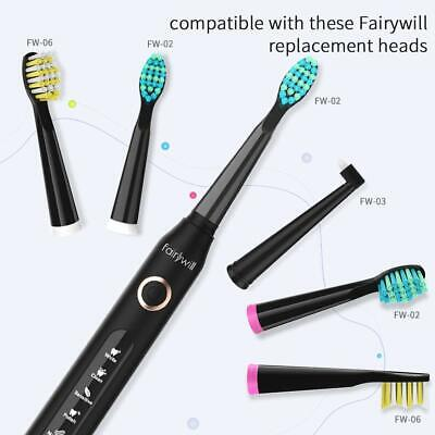 Fairywill 5 Optional Modes Travel Toothbrush 4 Hours Charge Minimum 30 Days Use