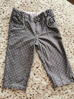 Pumpkin Patch Girl Grey Spooty Trousers Size 4 Years