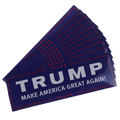 10Pcs/set Donald Trump for President Make America Great Again Bumper Sticker.