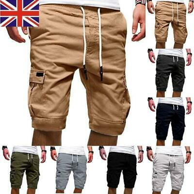 Men's Summer Short Cargo Pants Loose Casual Shorts Trousers Pockets