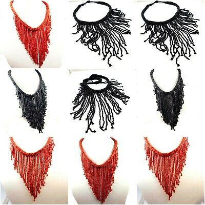 Vintage Style Boho Multi Beads Man Made Thread Necklaces Jewelry W10-W15