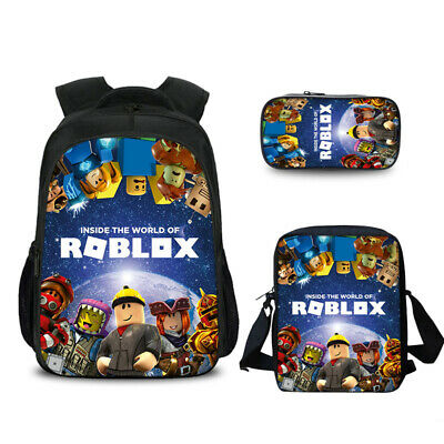 Roblox Game Backpack Lunch Bag Crossbody Bag Pen Case Lot School Kid Gift