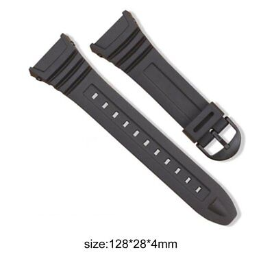 Silicone Watch Band Stainless Steel Pin Buckle Watchband for Casio W-96H JW