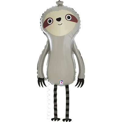 """Friendly Sloth Walking Balloon Friends 39"""" Large Foil Balloon Party Decoration"""