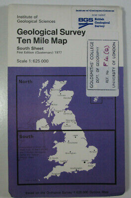 1977 Old IGS Geological Survey Ten-Mile Map South Sheet Quaternary First Edition