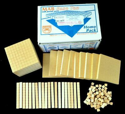 Wooden COUNTING Rods number aid educational GLEN IRIS maths teacher Base 10 home