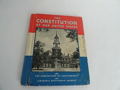 Vintage 1936 The Constitution of Our United States Rand McNally