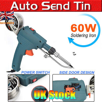 60W Mains Powered Auto Send Tin Soldering Iron Electronics GUN Electric Solder
