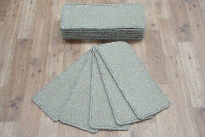 16 Carpet Stair case Treads Baize Wool Stain Free - Carpet Stair Pads
