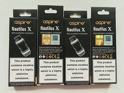 Aspire Nautilus X, U-Tech Coils, 1.5ohm & 1.8ohm. Aspire New 3 Step Verification