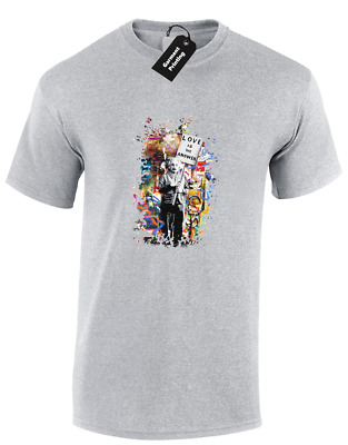 Love Is The Answer Einstein Banksy Mens T-Shirt Street Art Cool