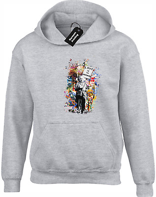 Love Is The Answer Einstein Banksy Hoody Hoodie Street Art Cool
