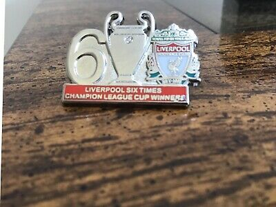 Liverpool 6 Time Champion League Cup Winners Football Pin Badge ⚽️⚽️⚽️⚽️⚽️⚽️