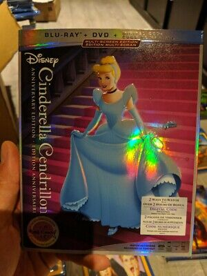 Cinderella Anniversary Edition (Blu-ray/DVD; Digital) BRAND NEW!! w/ Slipcover