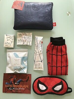 UNITED AIRLINES Spider Man Spiderman Far Home First CLASS TRAVEL AMENITY KIT