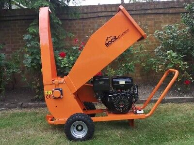 Rock Machinery 13HP Trailed Petrol Shredder/ Chipper- Used But Great Condition