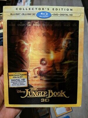 The Jungle Book Collector's Edition (Blu-ray/DVD; 2D/3D; Digital) NEW Slipcover