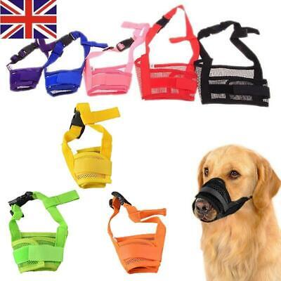 New Pet Dog Adjustable Mask Anti Bark Bite Mesh Soft Mouth Muzzle Grooming Chew