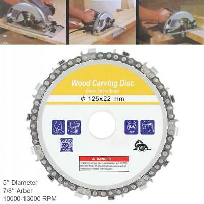 Angle Grinder Saw Blade Disc Tooth Chain Saw Carving Wood Disc 125 x 22mm