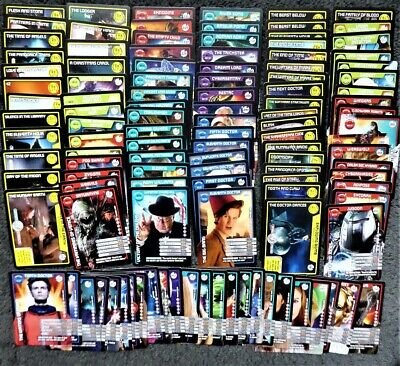 Lot of 130+ Doctor Who Monster Invasion Trading Cards - Common Rare & Super Rare