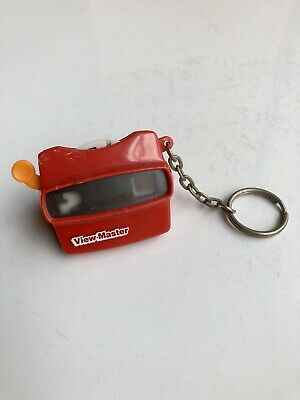 Vintage 1997 Mini Viewmaster Keychain Works! Collectible! Cartoons