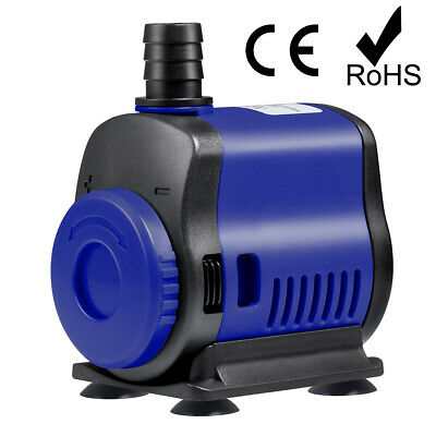 Pompe Eau Submersible Aquarium Pump 1000L/h 14W pour Fish Tank Fontaine Pump