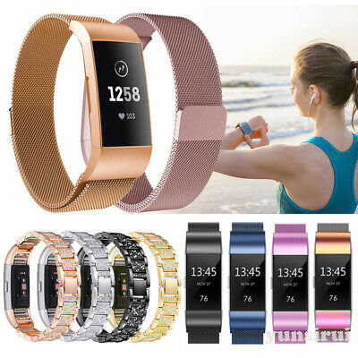 Stainless Steel Magnetic Milanese Loop Band for Fitbit Charge 2 Wristband Strap
