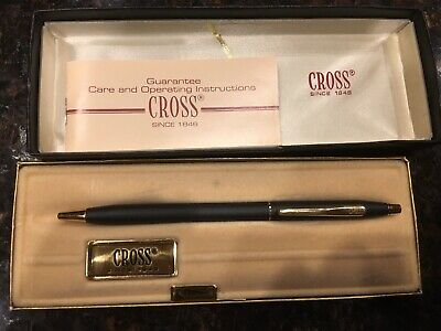 Cross Classic Black 2502 Ballpoint Pen New In Box