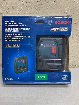 Bosch 3 Point Self Leveling Alignment Laser Level GPL 3 S (new)