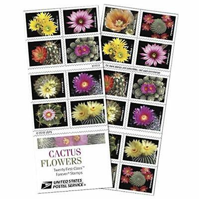 Cactus Flowers Book of 20 Forever First Class Postage Stamps Celebration
