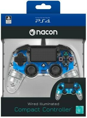 PlayStation 4 PS4 Nacon Illuminated Compact Controller - Blue New (1)