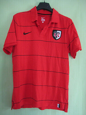 Polo Rugby Stade Toulousain ST Maillot Toulouse Jersey Coton Vintage - M
