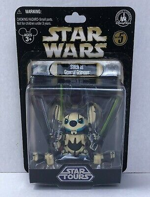 Disney Parks Star Wars Tours Series 5 Stitch 626 as General Grievous Figure NEW