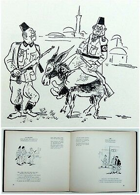 1952 Palestine JEWISH CARICATURE BOOK Israel INDEPENDENCE WAR Hebrew POLITICAL
