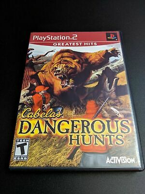 Cabela's Dangerous Hunts GH Playstation 2 PS2 Complete CIB VERY Fast Ship World!